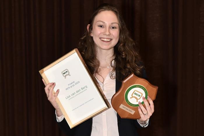 Our colleague in the Netherlands, Lisa van den Berg, wins MCR price 2020!